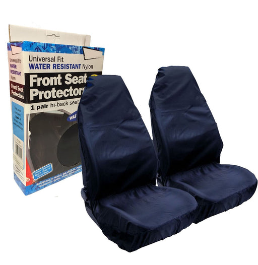 Universal Fit Car Front Seat Protectors Covers Water Resistant Pair Blue SWNSC