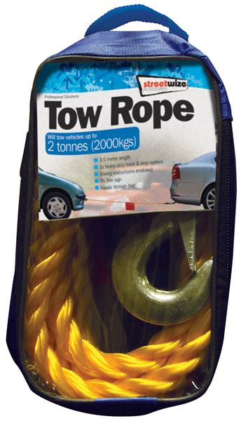 Universal 2 Tonne Tow Rope 3.5 Metre SWTR20