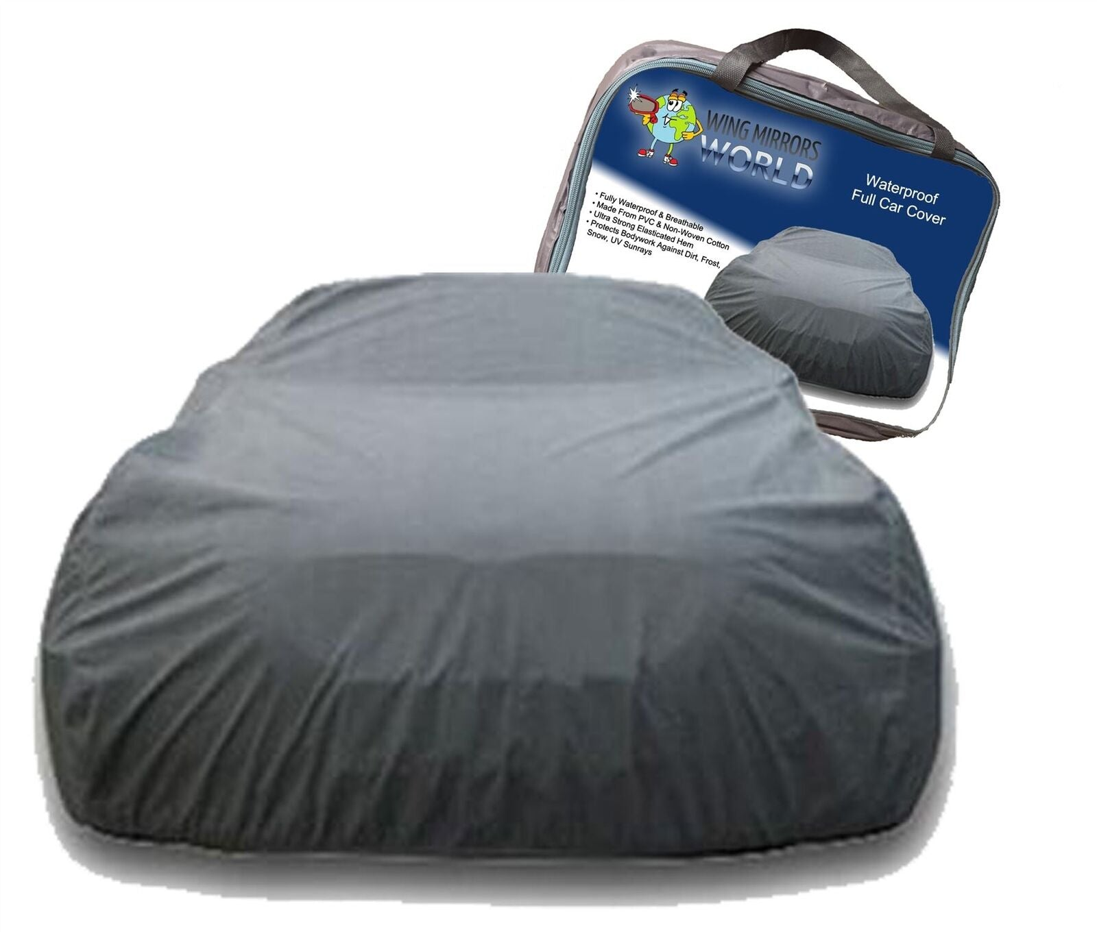 Universal Small Full Car Cover Waterproof UV Protection Indoor Outdoor SWWCCS