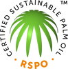 We use RSPO certified sustainable palm oil