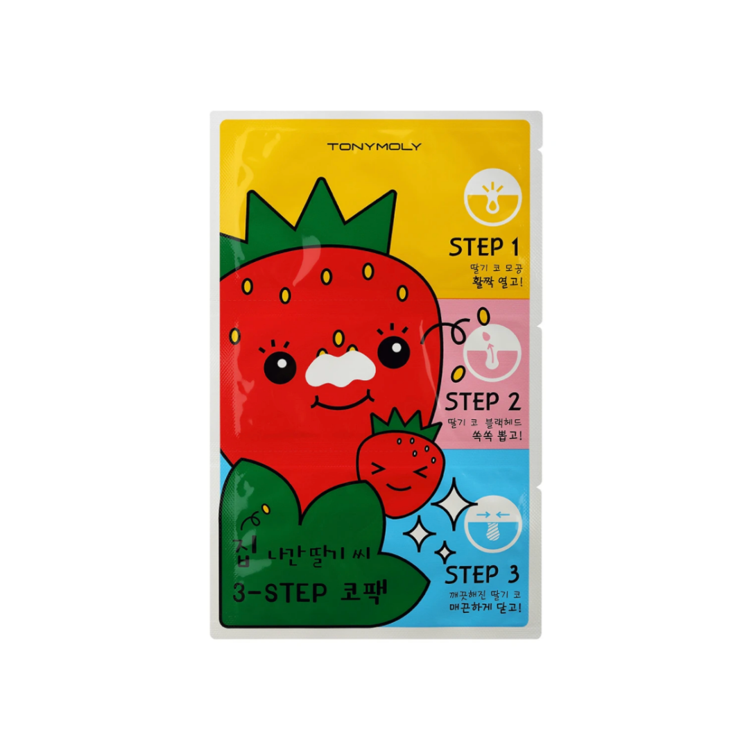 TONYMOLY-Runaway-Strawberry-Seeds-3-Step-Nose-Pack