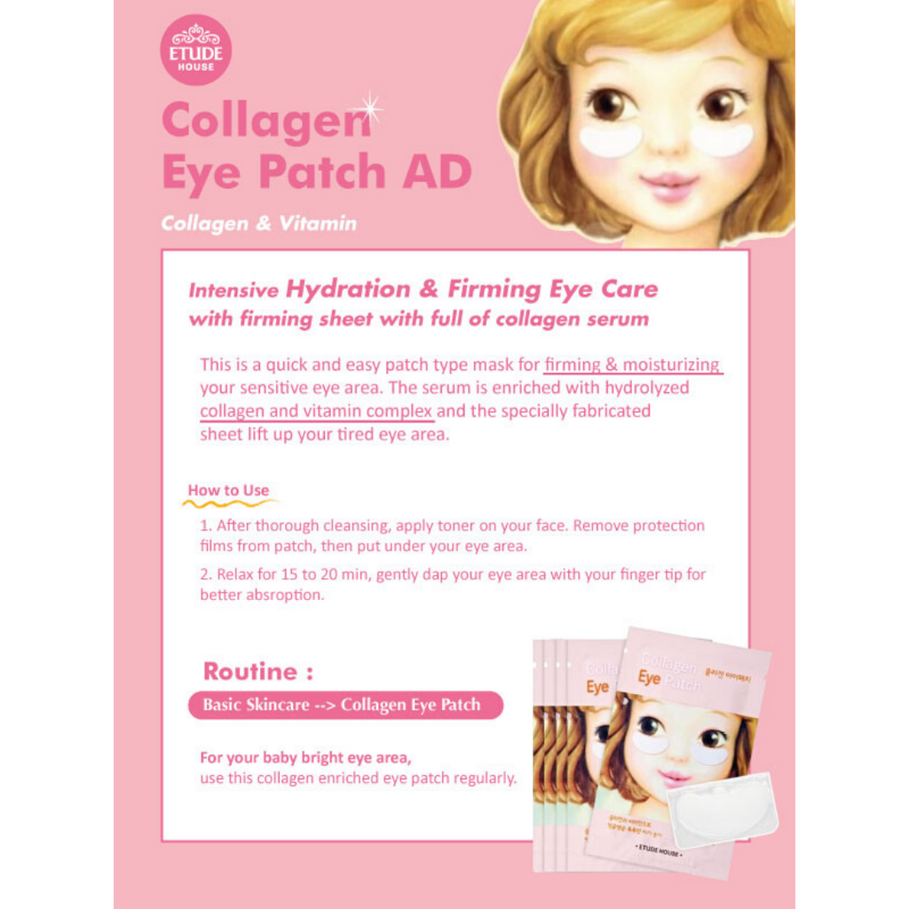 Etude House Collagen Eye Patch Info