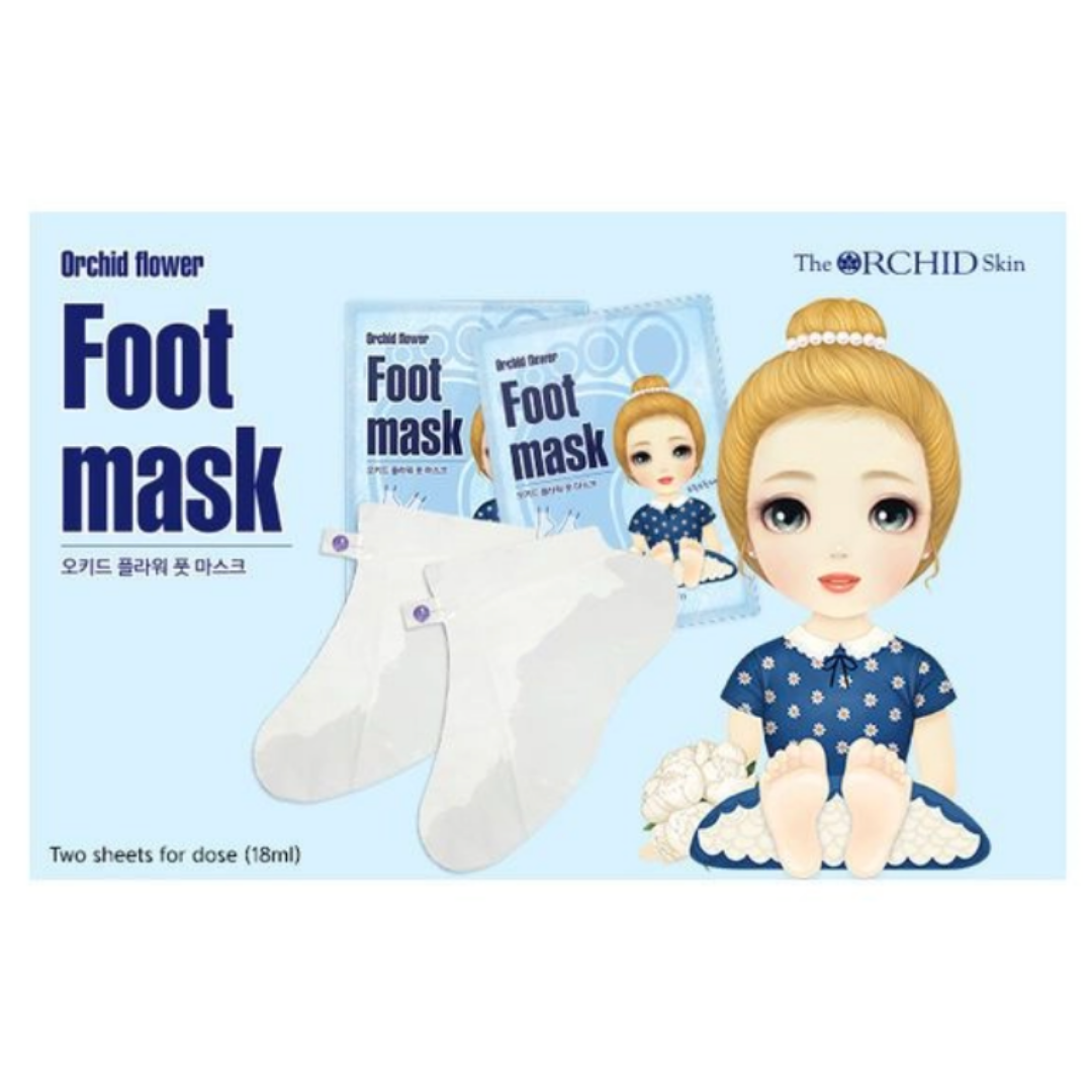 Orchid-Flower-Foot-Mask