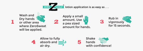 Infographic with ideas to get rid of clammy hands