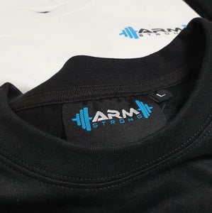 Armstrong Gym T-shirt with Small Printed Logo - Black