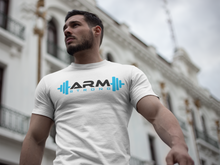 Load image into Gallery viewer, Armstrong Gym T-shirt with Large Printed Logo - White