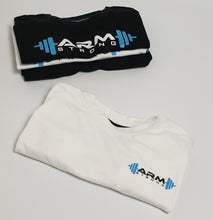 Load image into Gallery viewer, Armstrong Gym T-shirt with Small Printed Logo - White