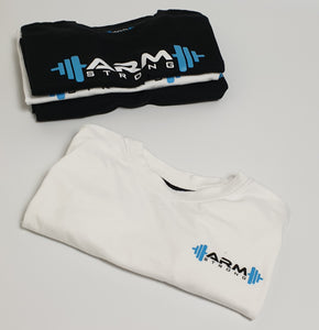 Armstrong Gym T-shirt with Small Printed Logo - White