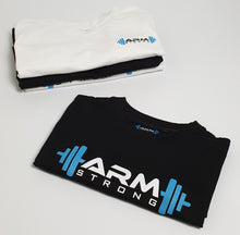 Load image into Gallery viewer, Armstrong Gym T-shirt with Large Printed Logo -  Black