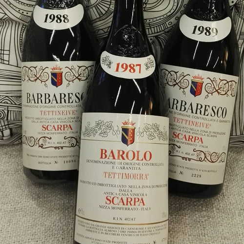 (3 bottles) Scarpa 80s Barolo & Barbaresco
