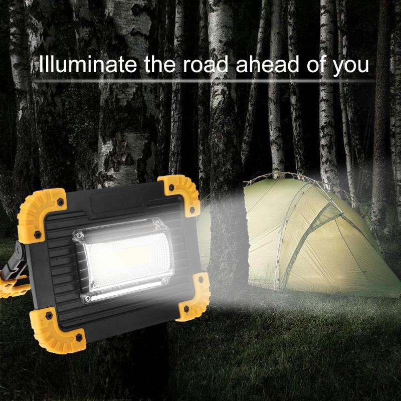 Night Searcher - 20W 400LM LED Rechargeable Outdoor Spotlight