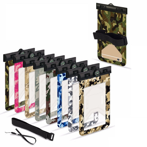 Universal Fully Waterproof Phone Pouch With Built In Compass (Comes with armband and neck strap)