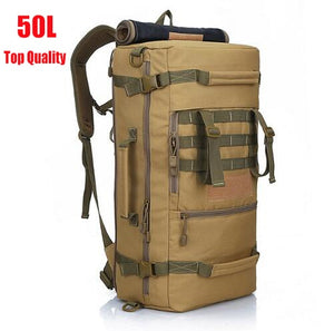 50L Tactical Military MOLLE Assault Backpack Pack 3 Way Modular Attachments Bags