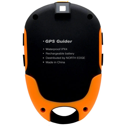 GPS Tracker Locator Finder Navigation Receiver Handheld USB Rechargeable with Electronic Compass for Outdoor Activities NORTH EDGE