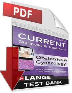 Current Diagnosis And Treatment Obstetrics And Gynecology 11 Test