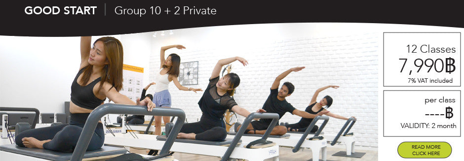 พิลาทีส Pilates Bangkok at The Balance Studio 10 group class + 2 private 7,990฿