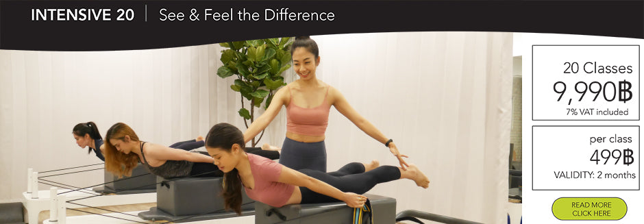 Pilates Reformer group class in Bangkok at The Balance studio