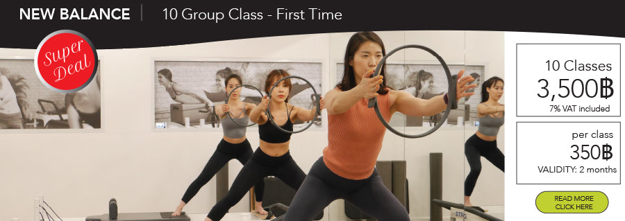 Pilates 10 Group Classes Promotion 3,500THB - 2 months validity