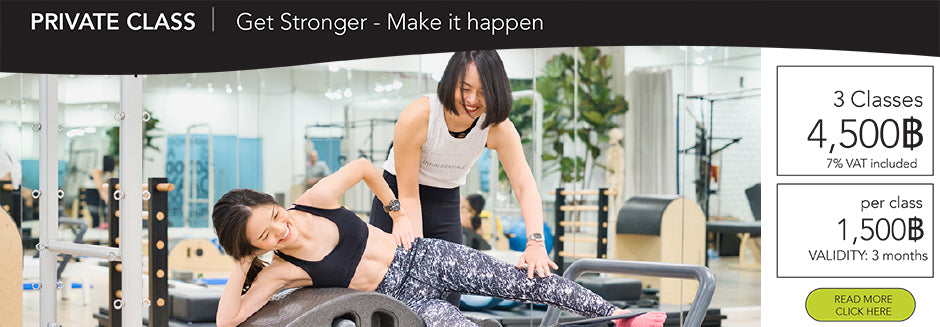 Pilates reformer bangkok private 3 classes