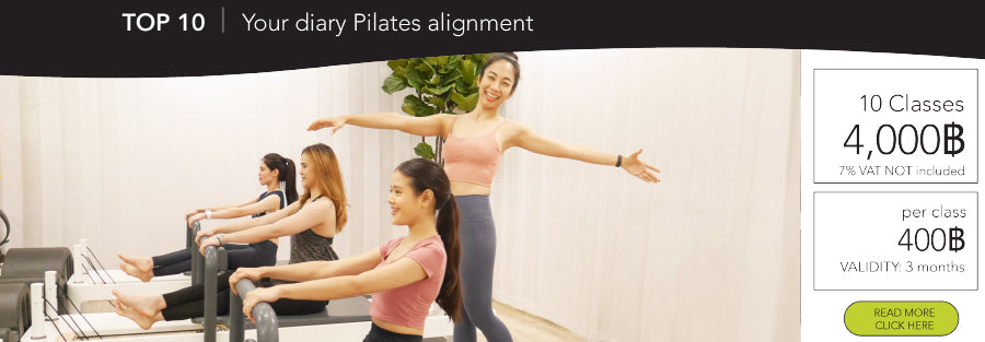 Pilates Reformer group class in Bangkok asoke Interchange building
