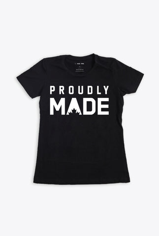 Proudly MADE Women's T-Shirt - Black