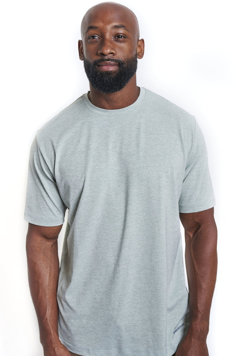 The Polo Tee: Heathered Green