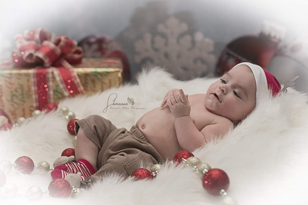 Bokeh Winter Snow Red Bell Christmas Photography Backdrops