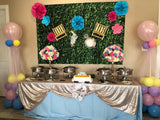 Green Leaves Birthday Table Banner Backdrop for Wedding