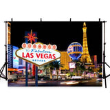 Mocsicka Las Vegas Theme American Cityscape Backdrop for Party Photography