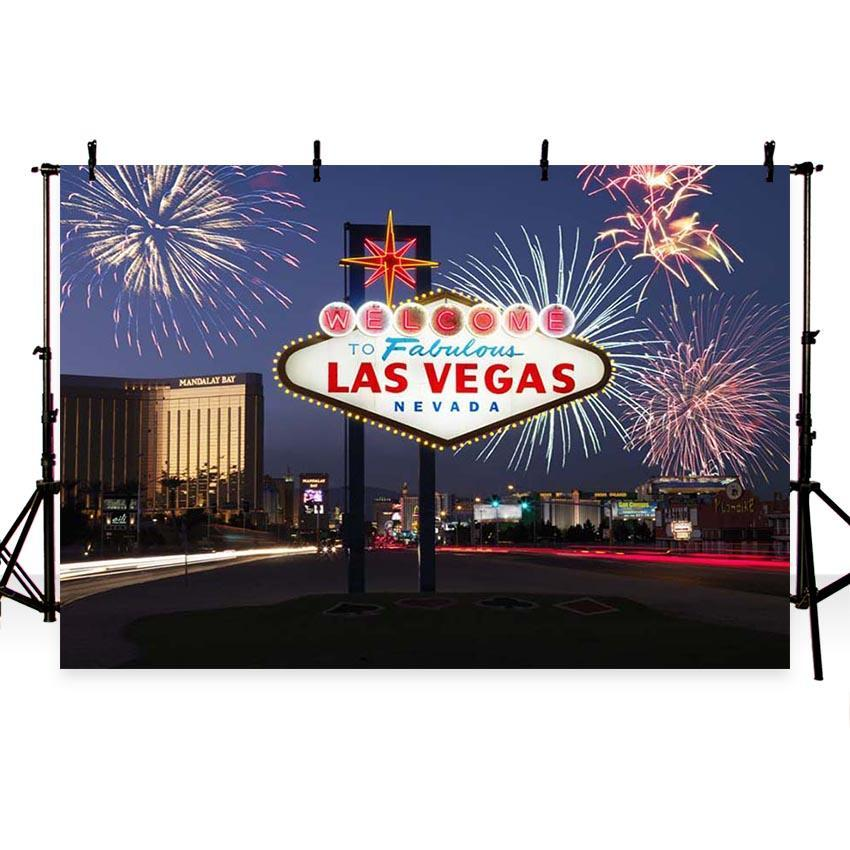 Mocsicka Las Vegas Theme Night City View Backdrop for Party Photography