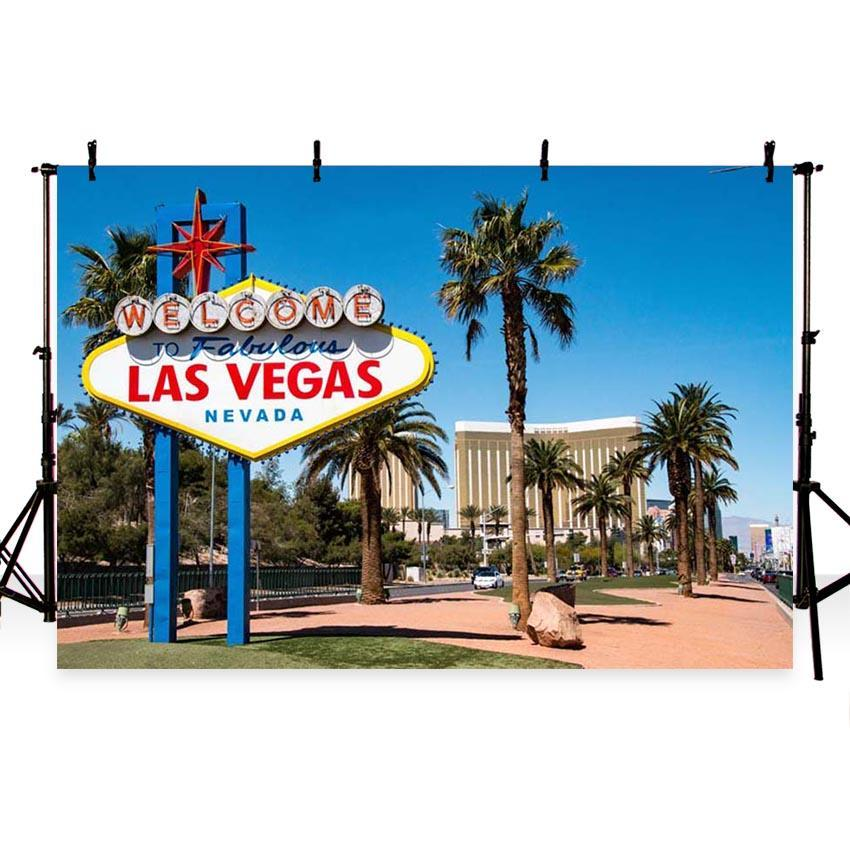 Mocsicka Las Vegas Theme Summer Beach Backdrop for Party Photography