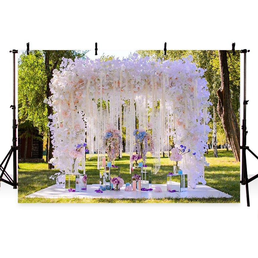 Beautiful White Flowers Backdrop for Weeding Ceremony Baby show Photography