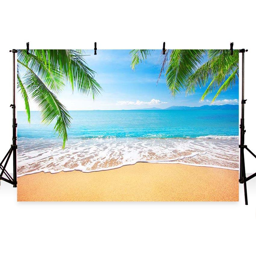 Sea Beach Blue Sky Landscape Backdrop for Summer Sea Vocation Theme Photography