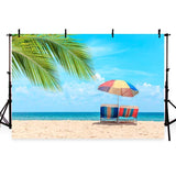Sunshine Sea Beach Blue Sky Landscape Backdrop for Summer Seaside Theme Photography