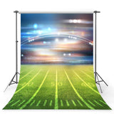 Football Field Backdrop Green Grass Sports Party Photography Background