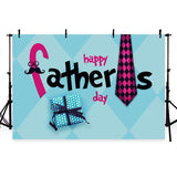 Happy Father's Day Backdrop Festival Blue Photography Background