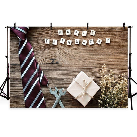 Happy Father Day Backdrop Wood Floor Decoration Photography Background