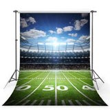 Green Grassland Backdrop Football Field Photography Background