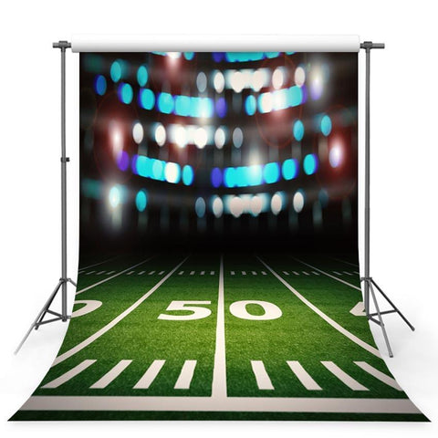 Bokeh Grassland Sports Backdrop Night Football Field Photography Background