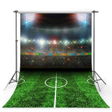 Football Field Backdrop Night Sports Stadium Photography Background