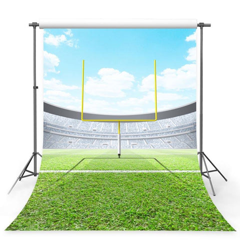 Green Grassland Sports Backdrop Football Field Photography Background