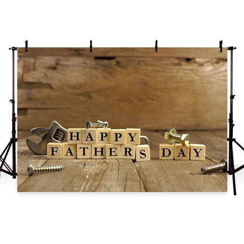 Happy Father' Day Backdrop Wood Wall Floor Photography Background