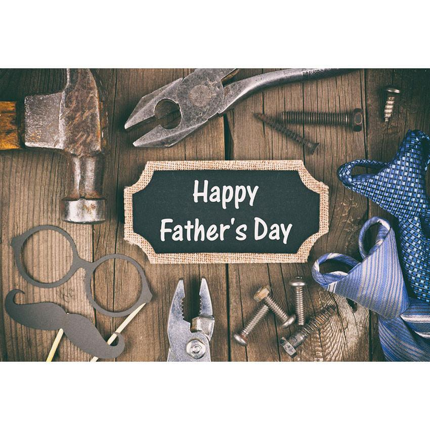 Happy Father' Day Backdrop Brown Wood Floor Photography Background