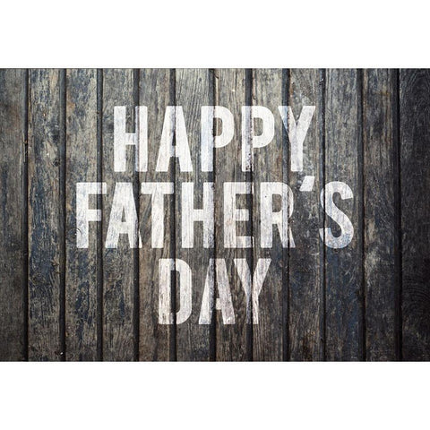 White Happy Father's Day Backdrop Dark Wood Floor Photography Background
