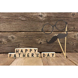 Happy Father's Day Backdrop Antique Wood Floor Photography Background