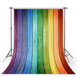 Colorful Backdrop Rainbow Wooden Board Photography Background