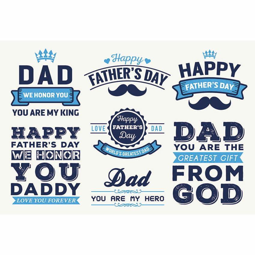 Dad My Hero Backdrop Father's Day Blue Photography Background