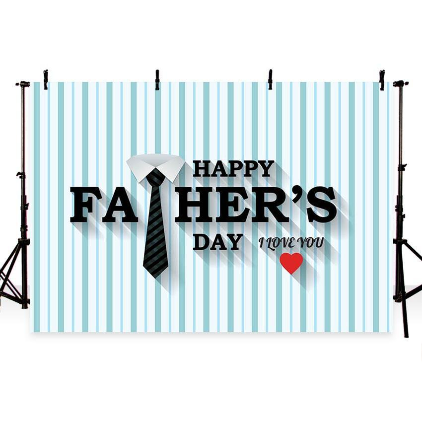 Dad I Love You Backdrop Father's Day Decoration Photography Background
