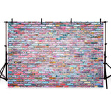 Colorful Graffiti Brick Wall Backdrop Party Decoration Photography Background