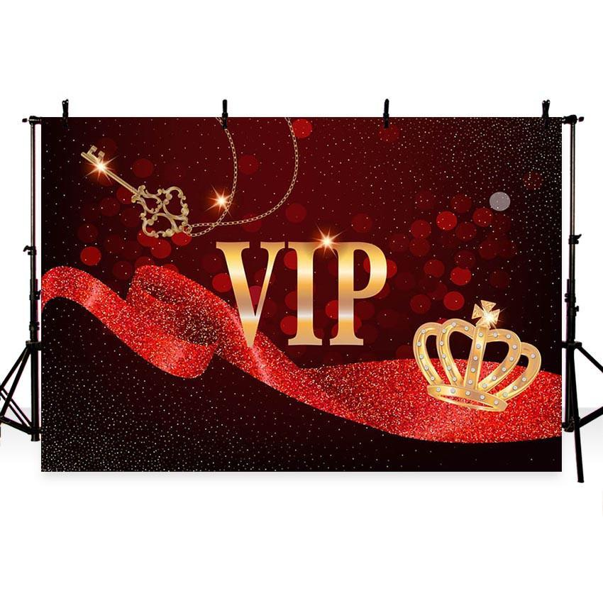 Golden Glitter VIP Hollywood Backdrops Red Lace Photography Background